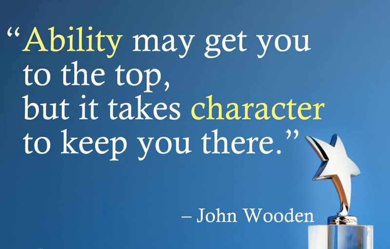 Good Character Quotes and Short Status to Build an Admirable Character
