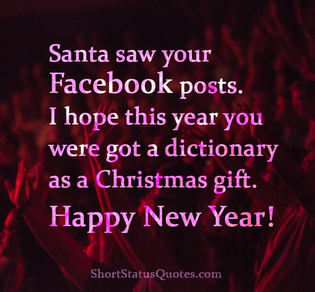New Year Status For Facebook Cute Captions Short Messages