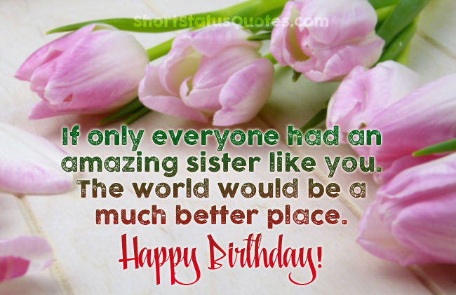 Funny Sister Birthday Facebook Status Get Funny Quote Says