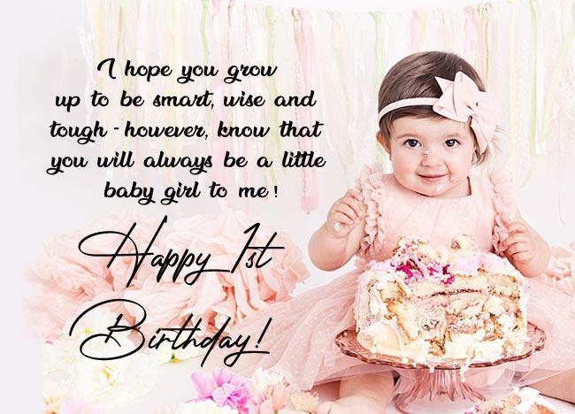 First Birthday Status Baby Girl