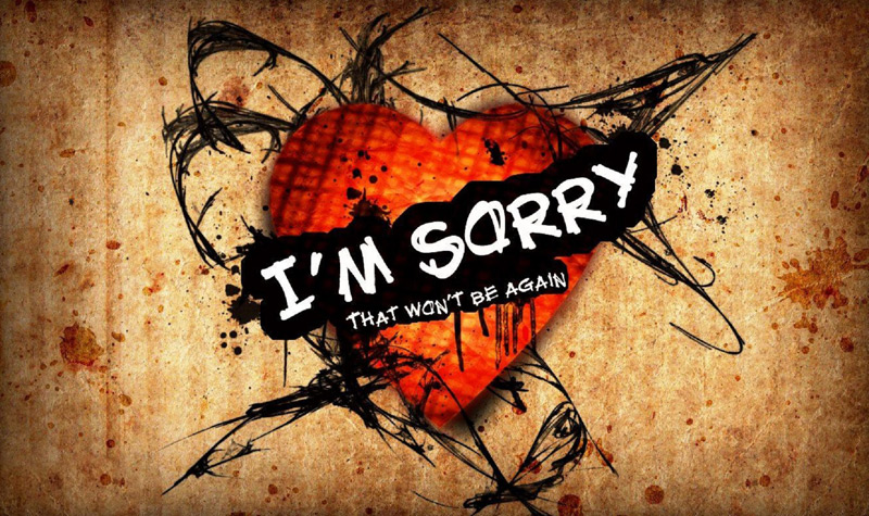 Sorry-Messages