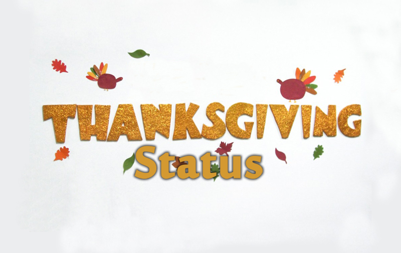 Short Thanksgiving Quotes Thanksgiving Status For Whatsapp, Facebook Messages & Short Quotes Short Thanksgiving Quotes