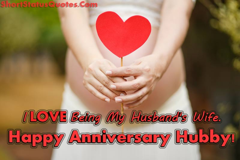 Anniversary status for husband happy wishes