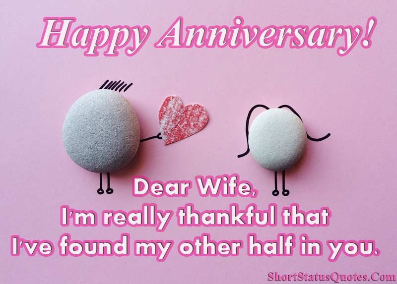 Anniversary Status For Wife Anniversary Wishes Quotes