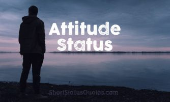 Attitude Status, Captions and Short Quotes About Attitude