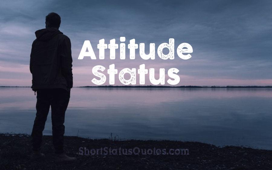 attitude status captions and short quotes about attitude
