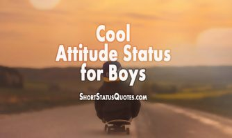 Attitude Status For Boys – Boys Attitude Quotes and Captions