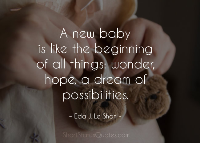 New Baby Quotes for Baby Shower Status