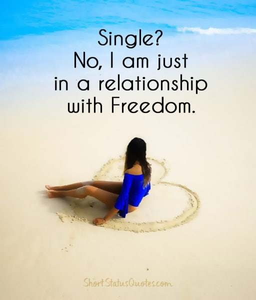 Single Status - Single Captions & Funny Single QuotesQuotes About Being Single And Free