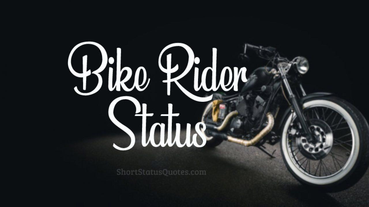120 Best Bike Status Bike Captions For Bike Riders