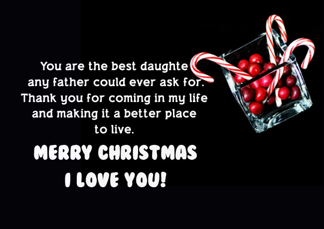 Christmas Wishes for Daughter from Father