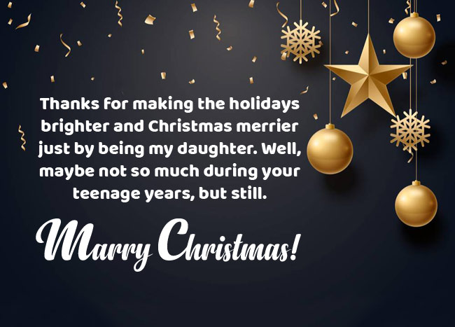Funny Christmas Wishes for Daughter