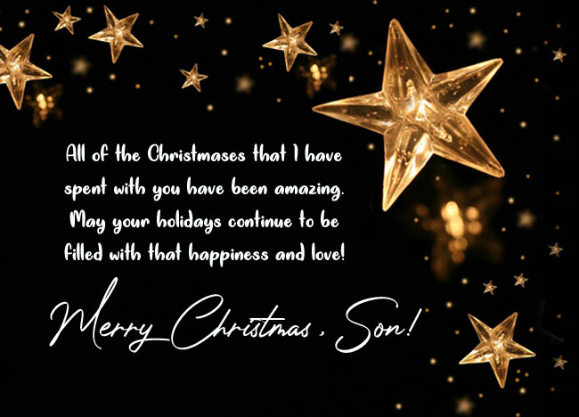 Best Christmas Wishes for Son