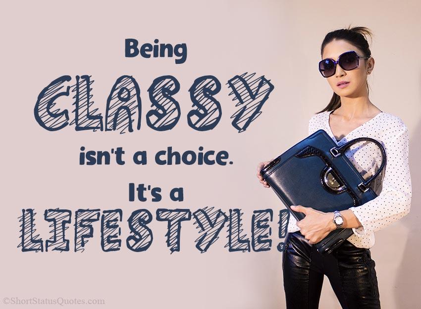 Being Classy Status