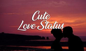 Cute Love Status for Him and Her – Romantic and Cute Love Captions