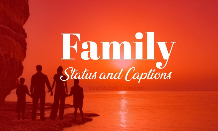 Family Status Family Captions Short Family Quotes