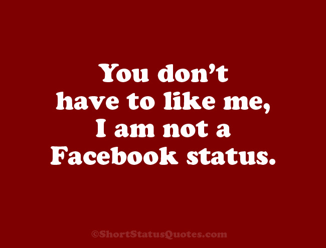 funny facebook profile status