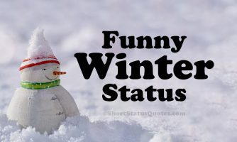 65+ Funny Winter Status, Captions & Funny Winter Quotes