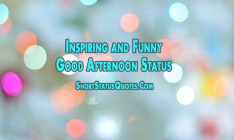 Good Afternoon Status and Quotes – Inspiring and Funny