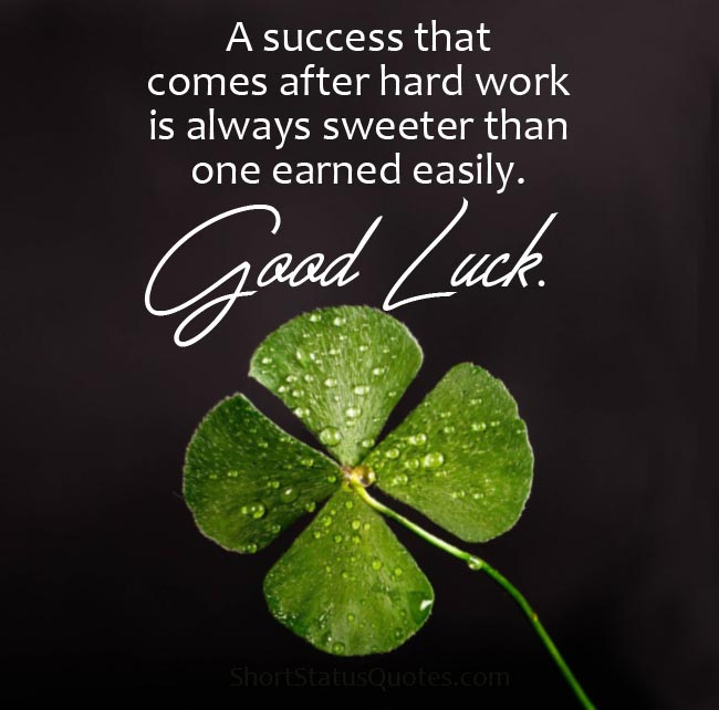 Good Luck Status - Good Luck Wishes & Messages
