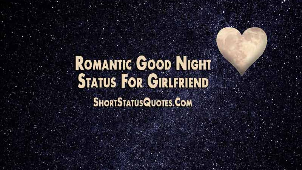 Good Night Status for Girlfriend - Romantic, Sweet and Funny