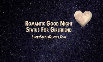 Good Night Status for Girlfriend – Romantic, Sweet and Funny