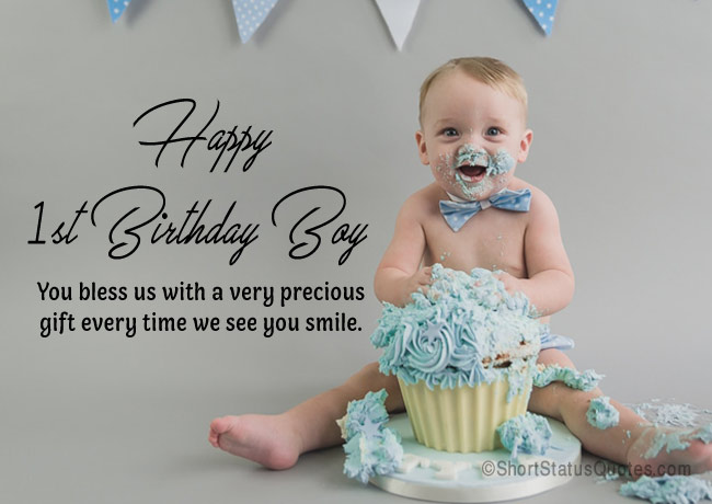 First Birthday Status for Baby Boy