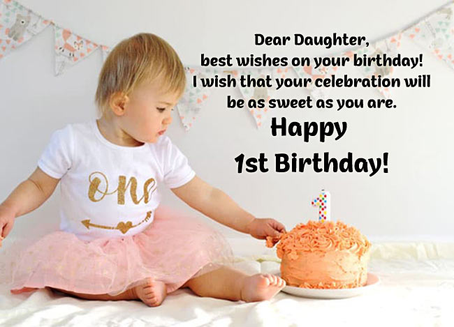 First Birthday Status for Daughter