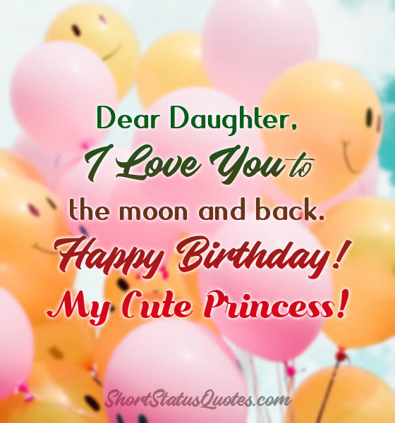 Happy Birthday Daughter Status Wishes Images