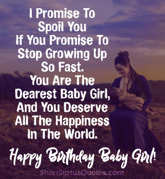 150+ [Best] Birthday Status, Wishes & Messages For Baby Girl