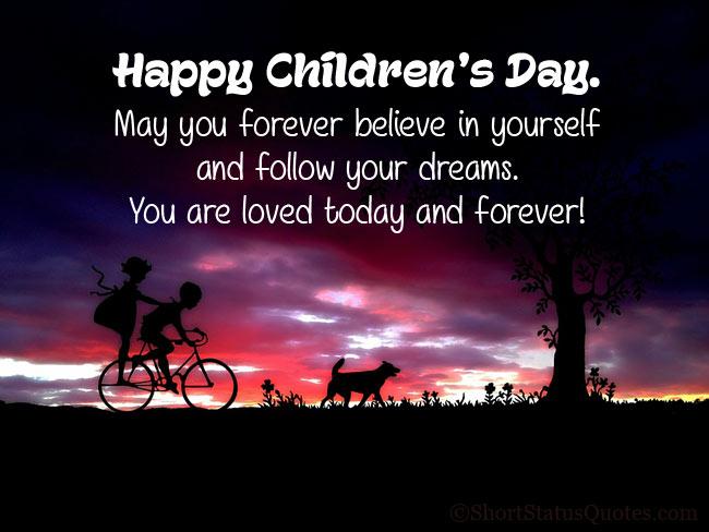 Happy Children's Day Status Wishes