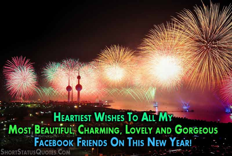 happy new year facebook status for 2018