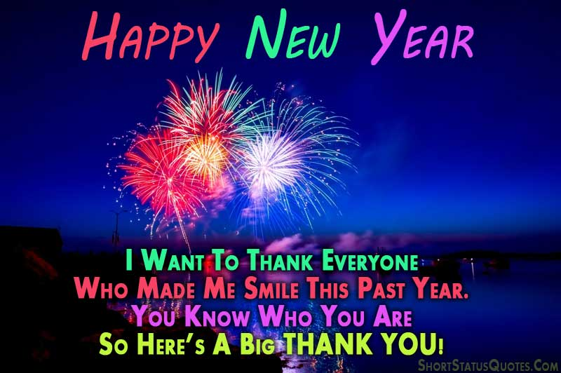 happy new year and big thank you