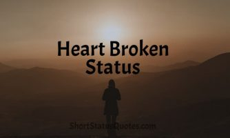350+ Heart Broken Status Lines, Captions & Text Messages
