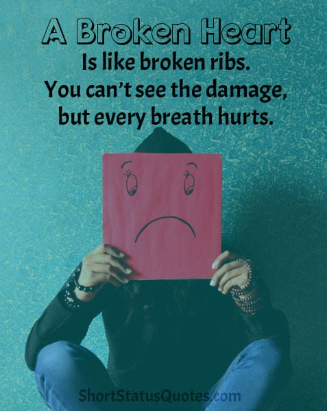 Heart Broken Status Lines Captions And Messages