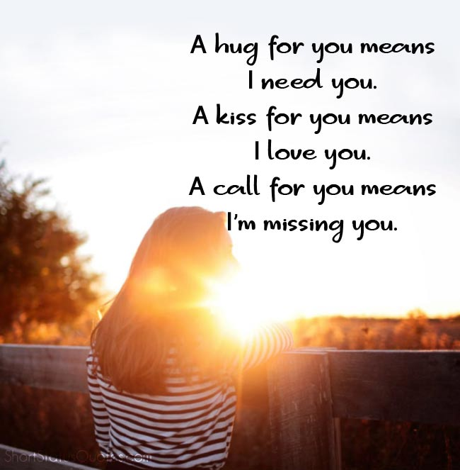 Missing You Status for Husband