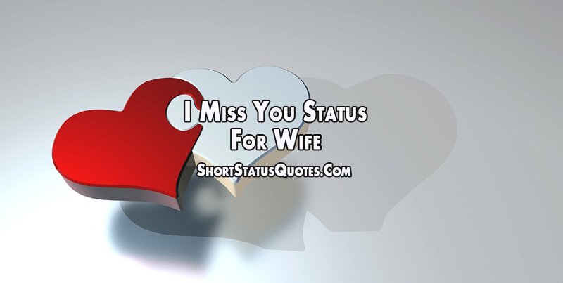 I Miss You Status For Wife Missing You Quotes For Her