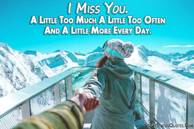 I miss my wife status short missing you quotes