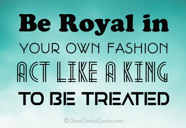 Royal Attitude Status for Boys
