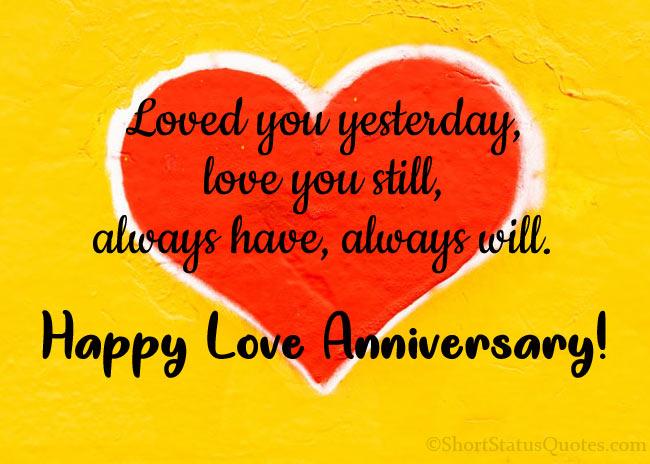 Romantic Love Anniversary Status