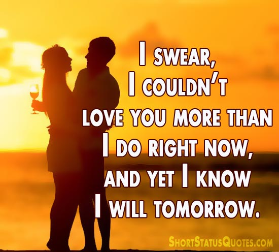 love status for girlfriend best sweet and romantic