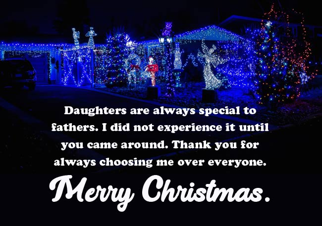 Christmas Wishes for Daughter from Dad