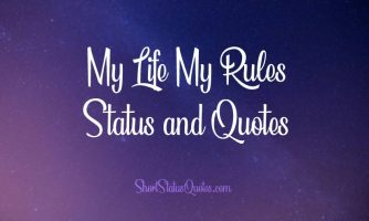 150+ My Life My Rules Status, Captions & My Attitude Quotes
