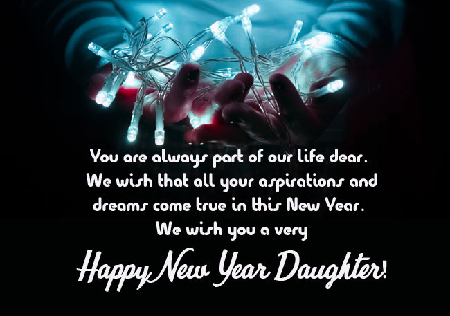 Happy New Year Messages for Daughter