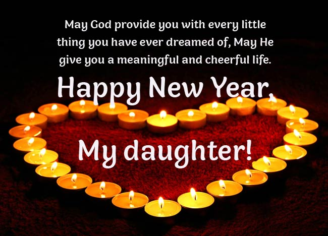 New Year Wishes for Daughter and Family