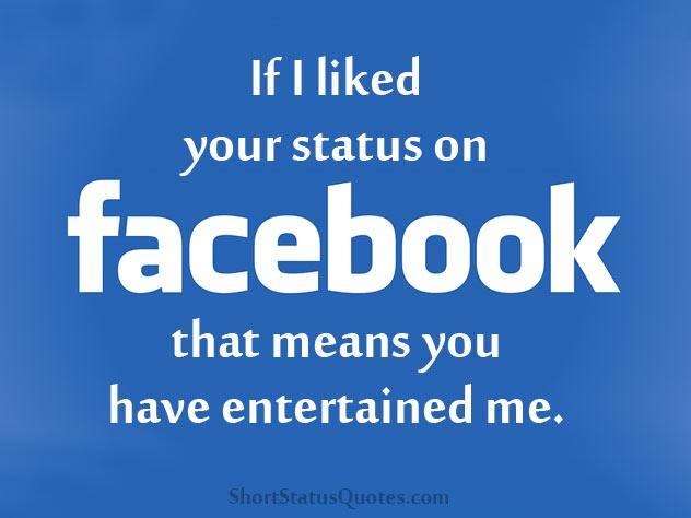 One Liner Facebook Status