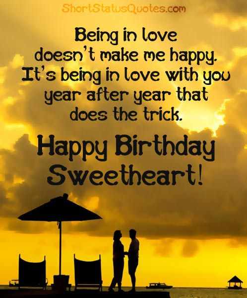 Romantic Birthday Status, Wishes and Message of Love
