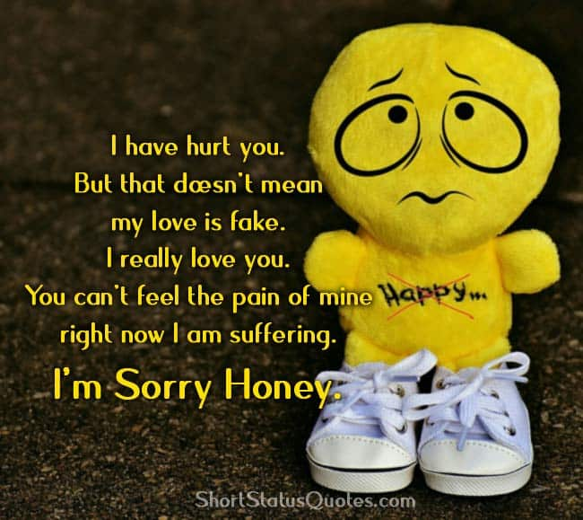 Sorry Status for Girlfriend - Short Apology Quotes for Her