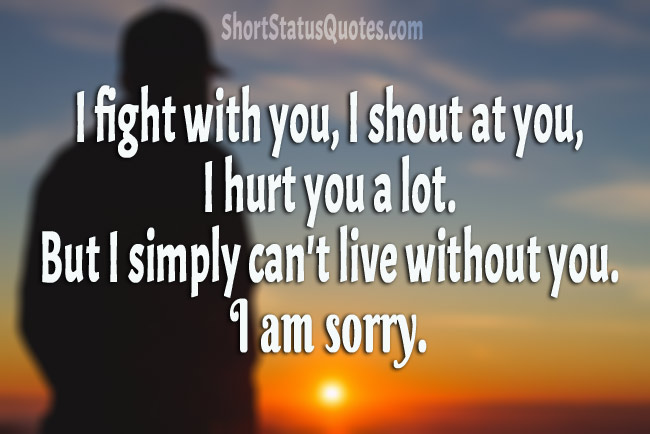 Sorry Status & Sorry Text Messages - Sweet, Cute & Heartfelt