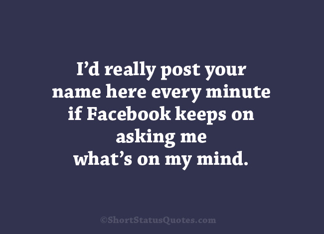funny facebook status lines